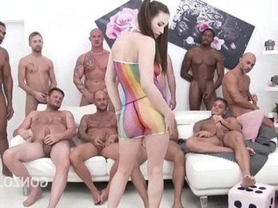 Ultra nympho casey calvert double anal gang bang insanity! | anal  ass fucking  ass gape  banged  blowjob  double penetration