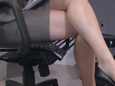 Hot office temp penny pax stays late to masturbate for you | masturbation   office