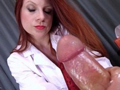 Doctors Viagra Boner Cure FULL VIDEO HJ by Lady Fyre femdom | boss  doctor  femdom  handjob  humiliation  jerking  lady  masturbation  mistress  redhead