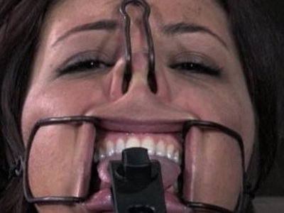 Tongue clamped bdsm sub pussy gets teased | bdsm  pussy  teasing