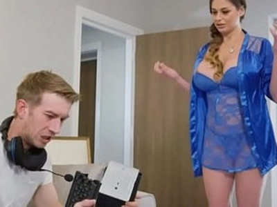Busty MILF fucked by her angry gamer stepson | busty   chicks   girls   milf   son and mom   stepson