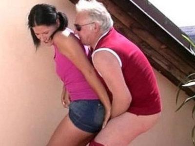Horny old dad bangs girlfriend | banged  daddy  girlfriend  horny girls  old and young  son and mom  young