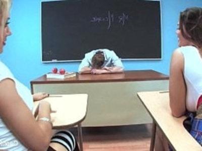 Capri Cavanni Schoolgirl Threesome | 3some  big tits  facials  hardcore  lesbians  oral sex  pornstars  school girls