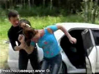 Brunette fucked next to car | blowjob   brunette   fake taxi   pussy licking   teens   young