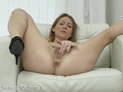 Mature Masturbates Her Hairy Pussy to Orgasm   clits  hairy pussy  masturbation  mature  milf  orgasm  striptease  vibrator