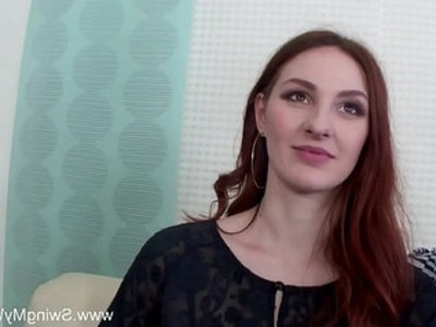 Redhead swinger cuckolds husband | 3some  amateur  blowjob  cheating wife  cuckold  cumshots  doggy  facials  group sex  housewife