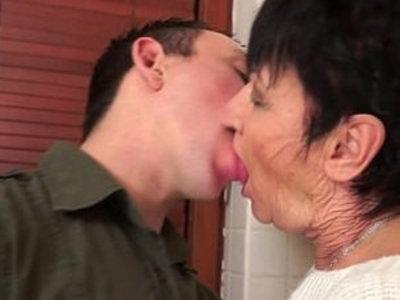 Cockhungry grandma fucked hard   gilf  grandma