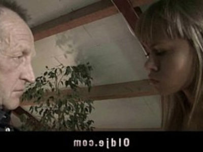 Old man spoils capricious teenie with fuck | blonde  close up  cock sucking  cunnilingus  doggy  old and young  old man  piercing  pussy licking  teens