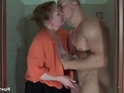Muscled bodybuilder grabs poor milf | domination  milf  muscle  old and young  young