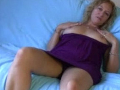 Older milf jerk off instructions boobies | blonde  jerking  milf  old and young