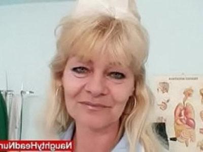 Older blonde shows off natural big tits and latex cock skills | bizarre  blonde  cock  dildo  lady  latex  masturbation  mature  milf  natural tits
