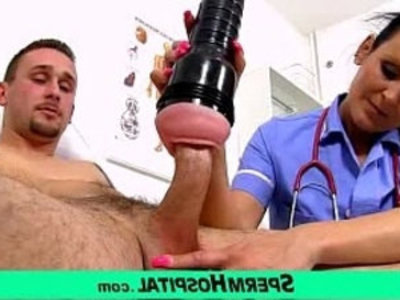 Mom with boy tugjob at hospital feat uniform milf Nora | boy   cfnm   cougars   cum on tits   czech girls   handjob   jerking   lady   legs   mature