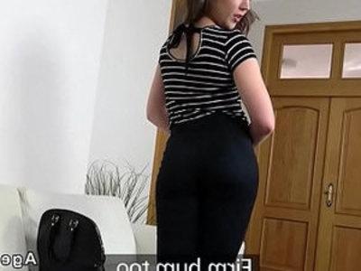 Small tits babe fucks fake agent | agent  brunette  small tits