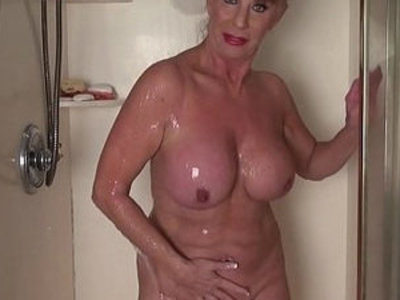 Mature woman in the shower | mature  shower  woman