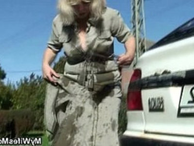 Wife catches then fucking outdoor | cheating wife  daughter  mature  mother  outdoor  son and mom  wife