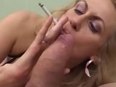 Smoking Mature Gives a hot Blowjob To A Fat Cock | blowjob   cock   fat girls   mature   smoking