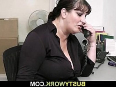 He pounds fat bitch from behind at work | bitch   boss   doggy   fat girls   pounding