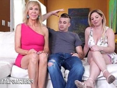 MILF Erica Lauren fucks her stepson and stepdaughter   3some  blonde  blowjob  cowgirls  cumshots  doggy  hardcore  mature  milf  pornstars