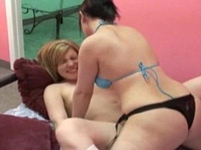 girls have strap on fun | girls  strap on