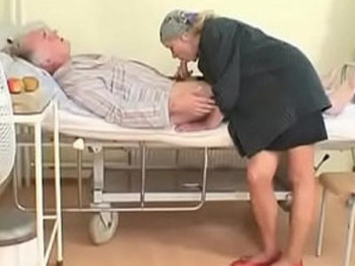 Sexy nurse gives a blow job to an old pig in hospital | blowjob  nurse  old and young  sexy girls  young