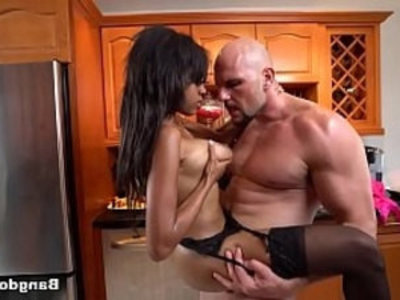 Britney White Fucked on Kitchen | black   ebony   kitchen   sexy girls   tits   white girls