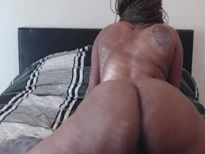 Phat black girl bouncing her round big ass on thick dildo | ass   big booty   black   dildo   drilling   girls   horny girls   round ass   thick girls