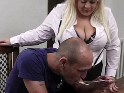 Boss bangs blonde bbw in stockings | banged  bbw  blonde  boss  stockings