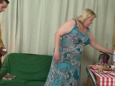 Horny granny seduces her son in law | gilf  horny girls  seduction  son and mom