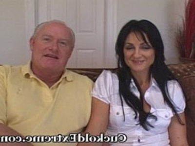 Cuckold Experience For Older Lady | brunette  cuckold  hardcore  lady  natural tits  old and young  wife