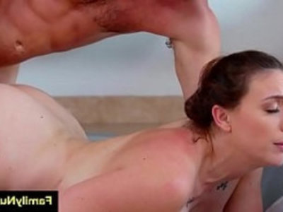Stepmom massage sons dick under the shower | dick   handjob   massage   milf   old and young   oral sex   shower   son and mom   stepmom