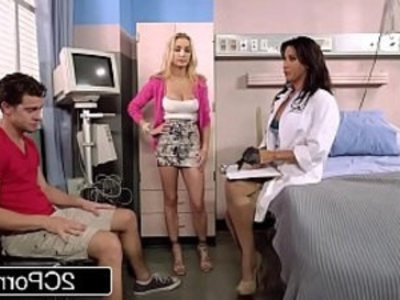 Stepmom Devon Brings Her Stepson to Doctor Lezley Zen For a Special Treatment | 3some  blonde  boobs  brunette  busty  doctor  handjob  hardcore  milf  son and mom