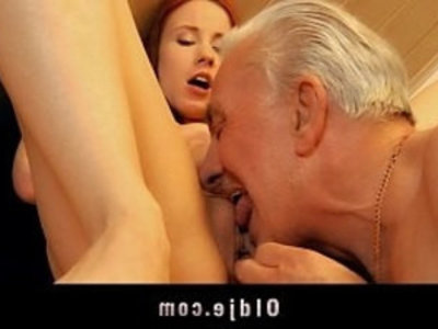 Old man receives young pussy sexual thanking | cumshots  cunnilingus  doggy  grandpa  mature  old and young  old man  piercing  pussy  pussy licking