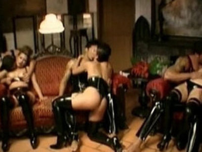 Rubber orgy   orgy party