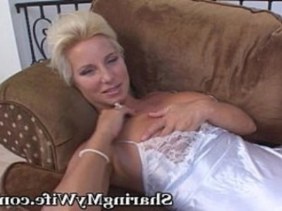 Mature wife Gets Lonely At Times... | big tits  blonde  busty  cougars  housewife  lingerie  masturbation  mature  milf  old and young